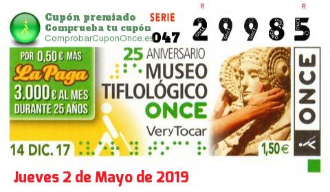 Cupon once dia 31 marzo 2019